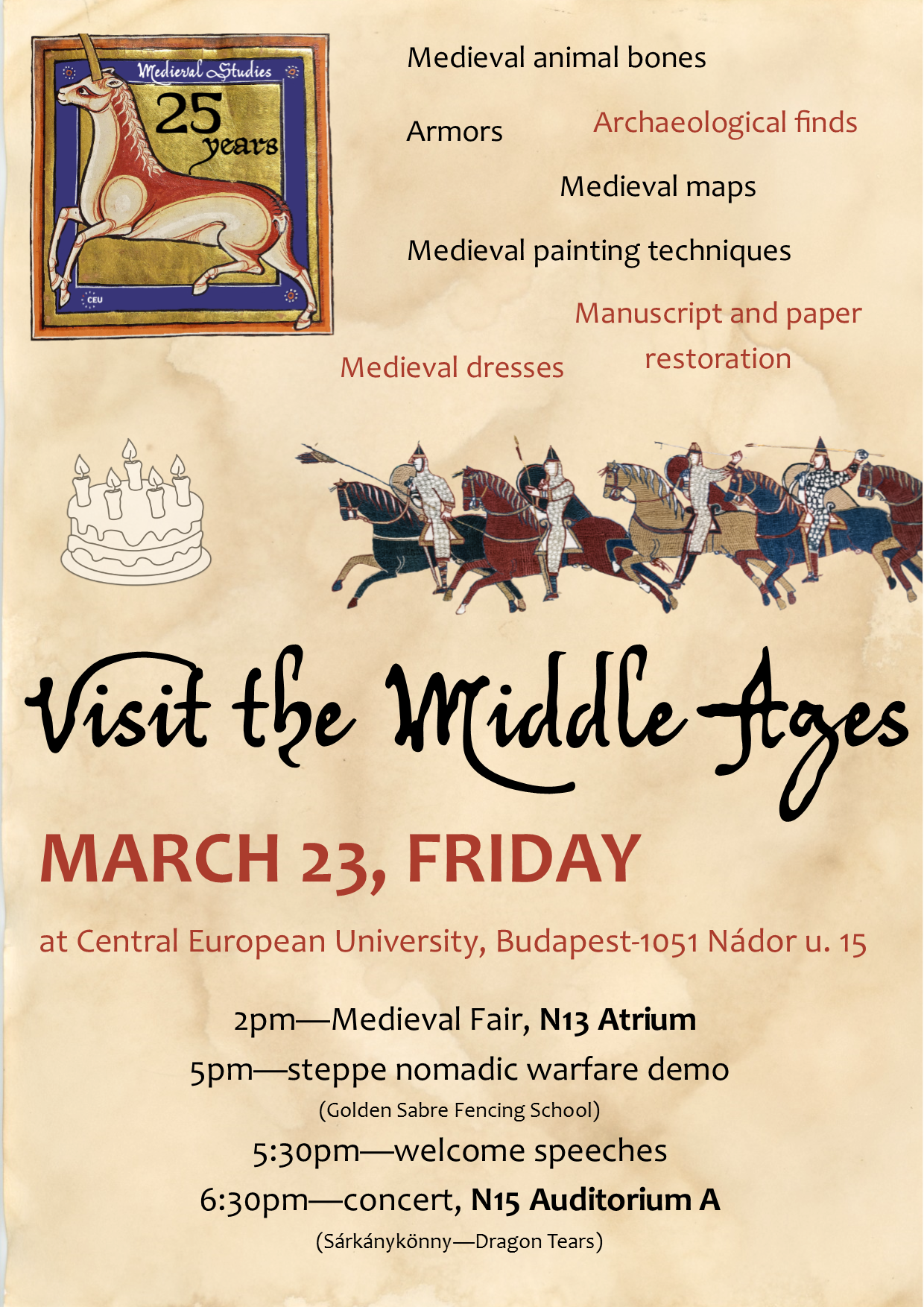 Visit the Middle Ages - March 23, 2018
